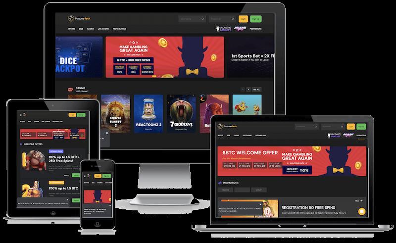 FortuneJack Casino mobile bitcoin casino no deposit bonus