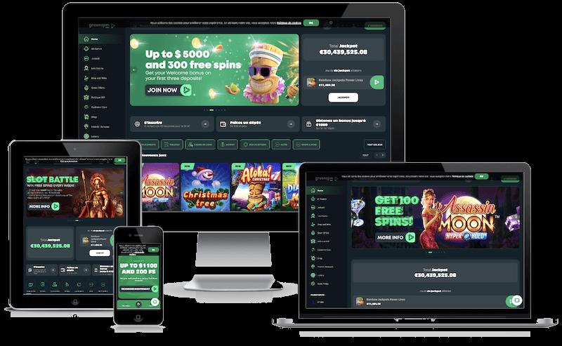 Green Spin Casino mobile bitcoin casino no deposit bonus