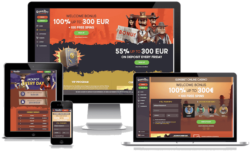 GunsBet Casino mobile bitcoin casino no deposit bonus