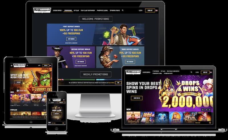 Ladyhammer Casino mobile bitcoin casino no deposit bonus