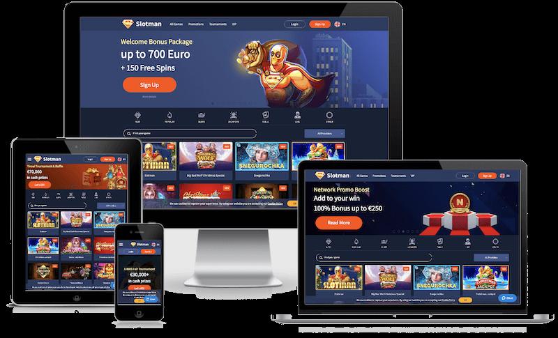 Slotman Casino mobile bitcoin casino no deposit bonus