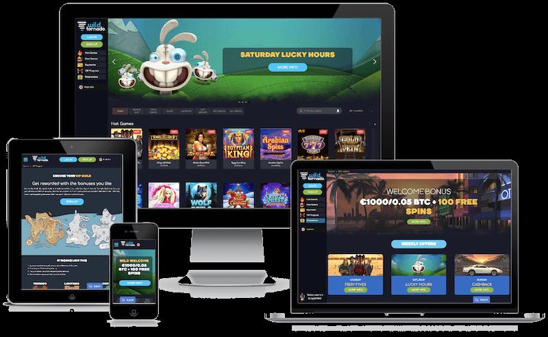 Wild Tornado Casino mobile bitcoin casino no deposit bonus