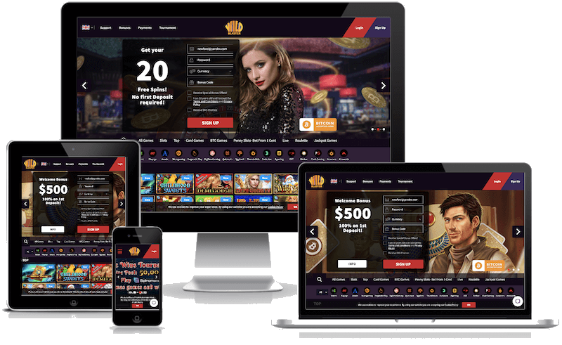 WildBlaster Casino mobile bitcoin casino no deposit bonus