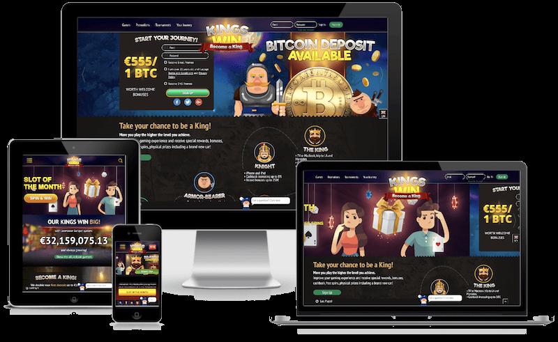 Kingswin Casino mobile bitcoin casino no deposit bonus