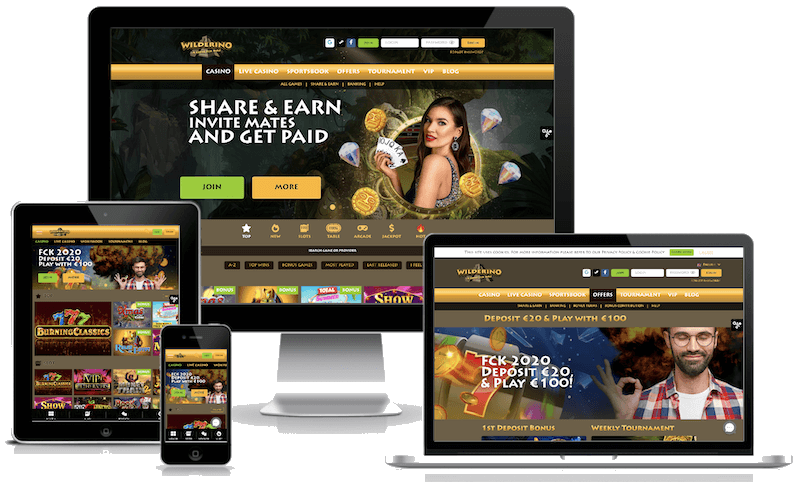 Wilderino Casino mobile bitcoin casino no deposit bonus 2021