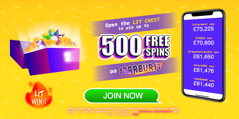 Lit Wins Casino Free Spins No Deposit