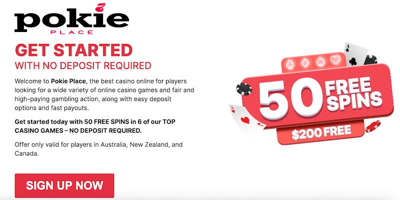 Pokie Place Casino Free Spins No Deposit