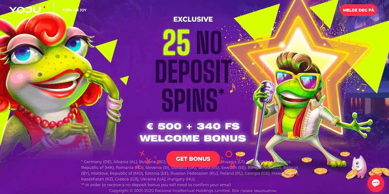 Yoju Casino Free Spins No Deposit