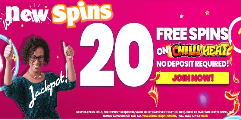 NewSpins Casino Free Spins No Deposit
