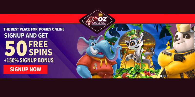 Oz LasVegas Casino Free Spins No Deposit