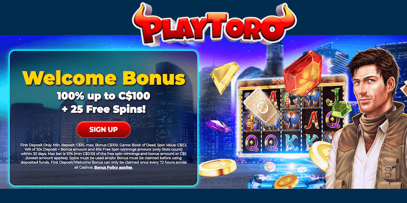 PlayToro Casino Free Spins No Deposit