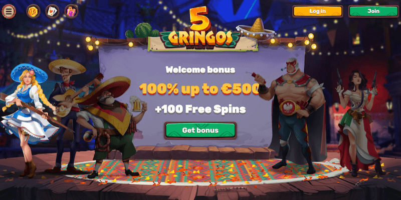 5Gringos Casino Free Spins No Deposit