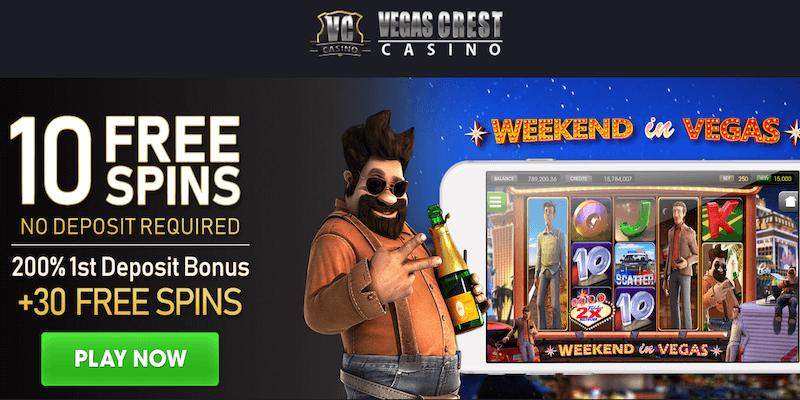 Vegas Crest Casino Free Spins No Deposit